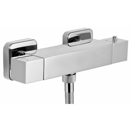 Zeal Exposed Thermostatic Bar Shower Valve in Chrome