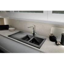 Aspekt 1.5 Bowl & Drainer in White Granite