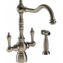 Bayenne Monobloc with Integrated Handspray in Pewter