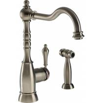 Bayenne Single Lever with Integrated Handspray in Pewter