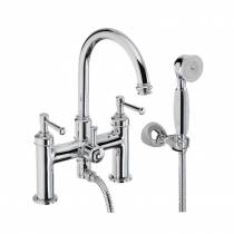 Gallant Deck Mounted Bath Shower Mixer with Shower Handset in Chrome