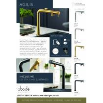 Agilis Single Lever in Matt Black and Brushed Brass