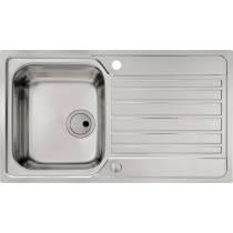 Connekt Flushfit Single Bowl & Drainer in Stainless Steel