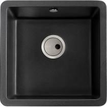 Matrix SQ GR15 Single Bowl in Black Metallic Granite