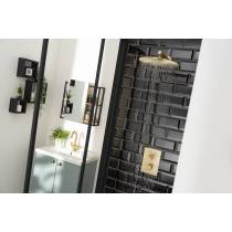 Minimal Wall Mounted Circular Shower Arm in Antique Brass
