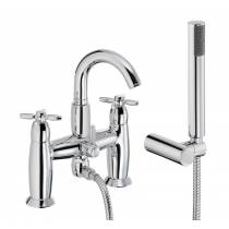 Opulence Deck Mounted Bath Shower Mixer with Shower Handset in Chrome